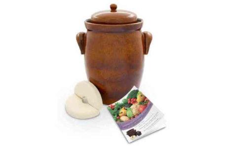 Gärtopf mit Wasserrinne für sauerkraut
