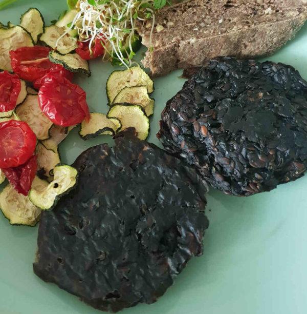 Pilzburger vegan Rohkost