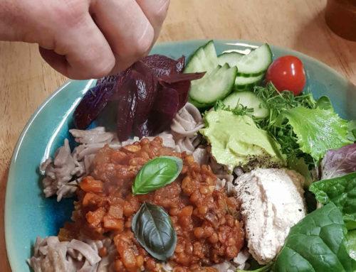 Bolognese mit Linsen: vegan und glutenfrei