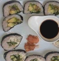 Sushi mit Pastinakenreis