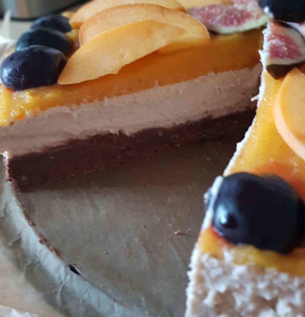 Raw no bake Torte Bounty style